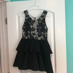 Black lace dress for girls